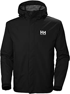 Helly-Hansen Helly Hansen Men's Seven J Waterproof, Windproof, and Breathable Rain Jacket with Hood