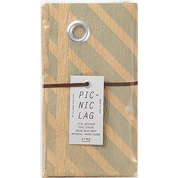 山陽製紙 レジャー シート キャンプ アウトドア ピクニック ラグ 用品 90×60cm 撥水 日本製 北欧 crep STRIPE ブルーグレー Sサイズ
