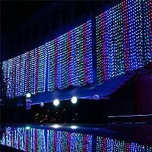 6 m x 1 m 256 LED al aire libre fiesta Navidad guirnalda de boda cortina de – deal para iluminación/hotel/Festival/novedad luz crea un buen humor para vacaciones bodas Stage Home Hotel KTV Bar Cafetería celebran días 8 modos para elección Vistoso