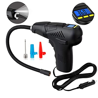 Manfiter Tire Inflator with Tire Gauge Pressure...