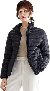Women Lightweight Down Jacket - Packable Ultralight Outwear Puffer Down Coats Stand Collar Winter Warm Coat L01