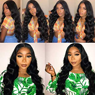Lace Front Wigs Human Hair 360 Lace Frontal Wig Brazilian Body Wave Human Hair Wigs Pre Plucked with Baby Hair 150% Density Lace Front Virgin Hair Wig for Black Women