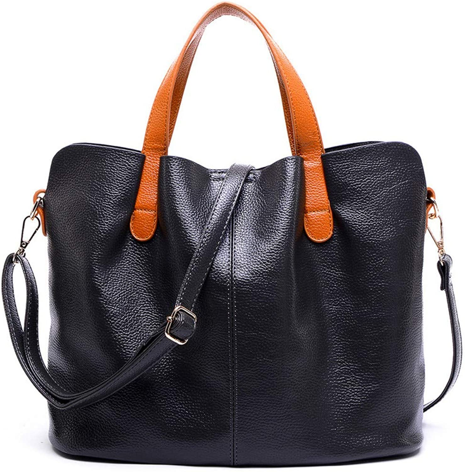 NZZNB Fashion Women's Bag Lightweight Soft Leather Large-Capacity Handbag Simple Solid color Retro Shoulder Bag Practical Satchel Tote Purse Top-Handle Handbags