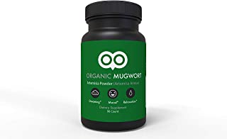 Sponsored Ad - Organic Mugwort Capsules 450 mg - 90 Capsules - Vegan - By Dream Leaf - Made in USA - Mood, Dreaming, Relax...