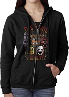 Womens Full Zip Five Nights At Freddy's Hoodie With Pouch Pocket