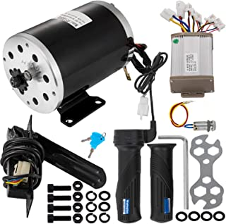 Mophorn 36V 800W Brushed Electric Motor Include Speed Controller Handles Pedal and Ignition Key for Go Karts Scooters & E-Bike
