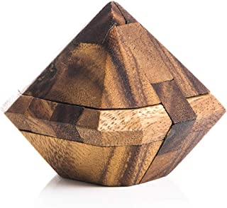 Kubiya Games | Diamond Puzzle - Kumiki Japanese Puzzle Design That Interlock to Form a Diamond Shape. This Medium Difficulty Level Mechanical Puzzle provided a Mental Workout, and Great Fun.