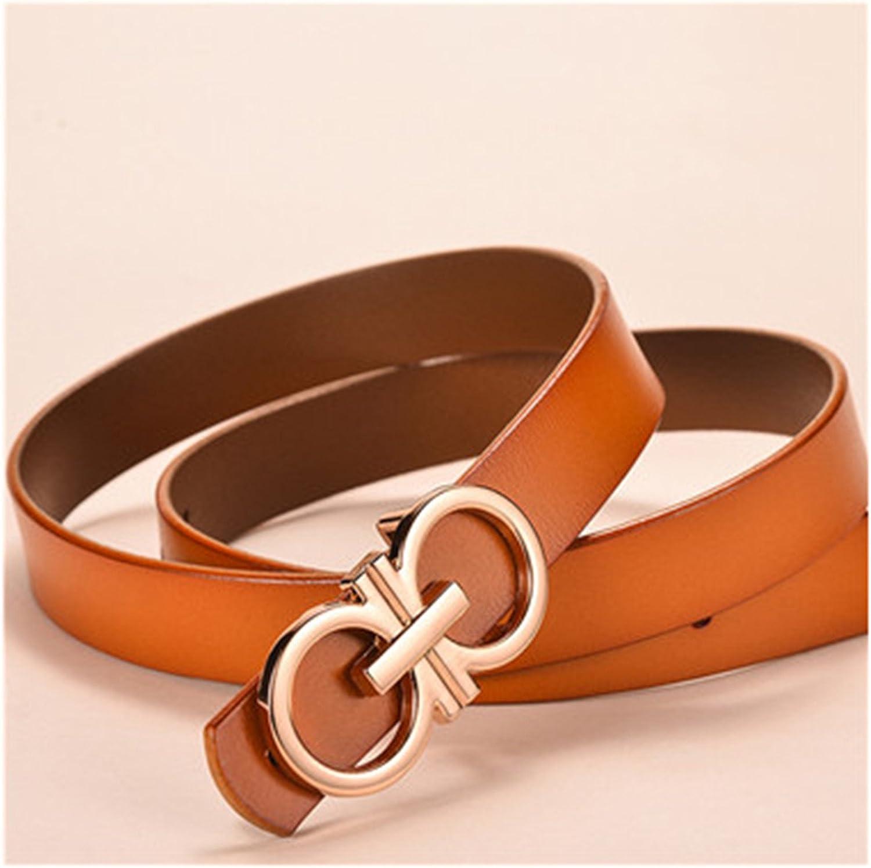 Castjones gold Gg Buckle Belt Female 2.3 2.8Cm Wide Black Red Brown Genuine Leather Waist Strap Belts For Women Jeans