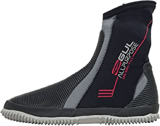 GUL All Purpose 5mm Boots in Black and Grey - Unisex - Durable Design for Long Lasting Boots for All Watersports