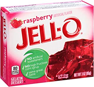 JELL-O Raspberry Gelatin Dessert Mix (3 oz Box)