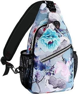 MOSISO Sling Backpack, Outdoor Hiking Daypack Shoulder Bag with Printed Pattern
