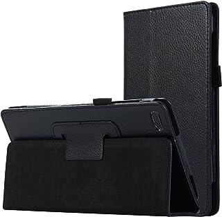 Asng lenovo Tab 7 Essential ケース lenovo Tab 7 Essential TB-7304F TB-7304I TB-7304X タブレット専用薄型スタンドケース (ブラック)