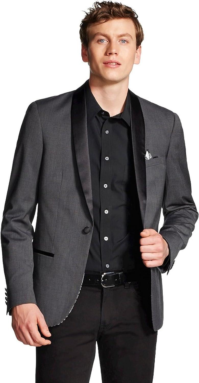 WD NY Men's Attention brand Satin Tuxedo Collar Jacket Genuine