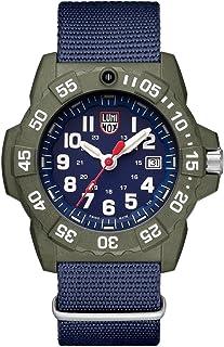 ساعة لومينكس ستانلس ستيل سي ايه سويسرية كوارتز بسوار من النايلون، ازرق، 24 (3503.ND)