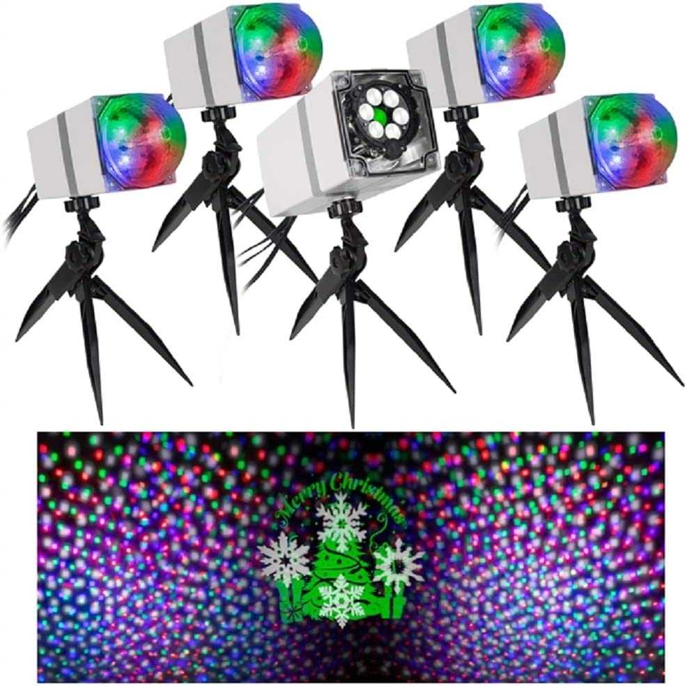 Orchestra of Lights LED Projection Set with 5 Spotlights and Spe