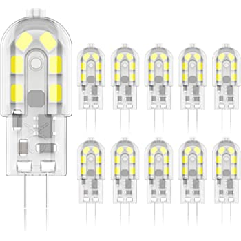 Agotd G4 Led Lampen 2w Led Birnen Ersetzt 20w Halogenlampen Kaltweiss 6000k 160lm 12v Ac Dc Led Leuchtmittel 360 Kein Flackern G4 Led Birne Nicht Dimmbar Stiftsockellampe Gluhbirnen 10er Pack Amazon De Beleuchtung