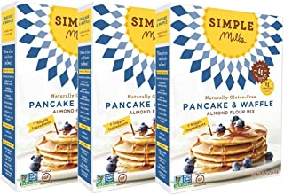 Simple Mills Almond Flour Mix, Pancake & Waffle, 10.7 Ounce (Pack of 3)