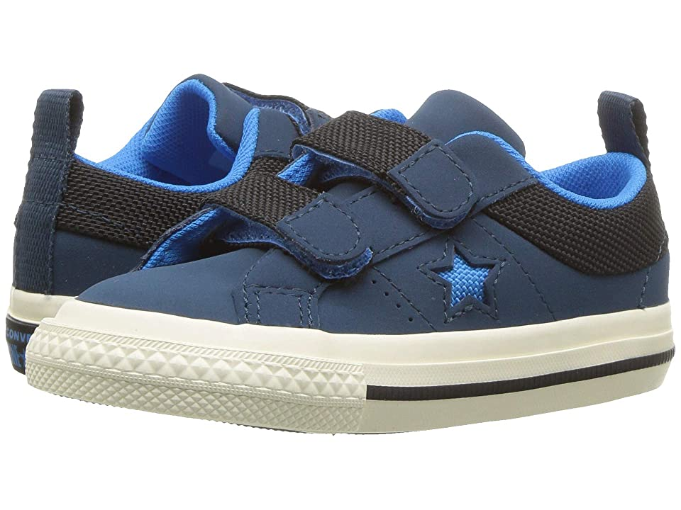 Converse Kids One Star 2V Ox (Infant/Toddler) (Blue Fir/Black/Blue Hero) Boys Shoes