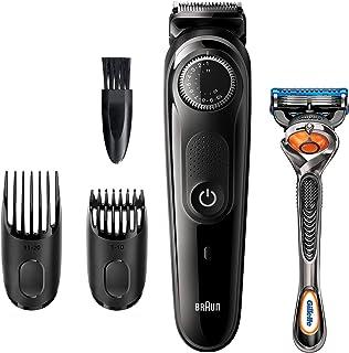 Braun Recortadora de Barba BT5242, Máquina Cortar Pelo, Recortadora de Barba y Cortapelos para Hombre, Cuchillas Afiladas de Larga Duración, Color Negro/Gris