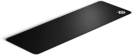 SteelSeries QcK Gaming Surface - XL Stitched Edge Cloth - Extra Durable - Sized to Cover Desks, Black