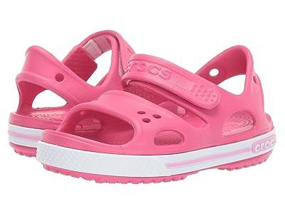 Crocs Kids Crocband II Sandal (Toddler/Little Kid) (Paradise Pink/Carnation) Girls Shoes