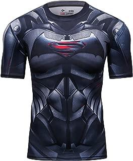 Red Plume Men's Compression Sport Tight Bat Running T Shirt