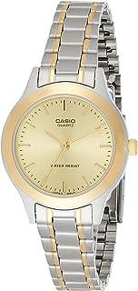 Casio Women's Gold Dial Stainless Steel Analog Watch - LTP-1128G-9ARDF
