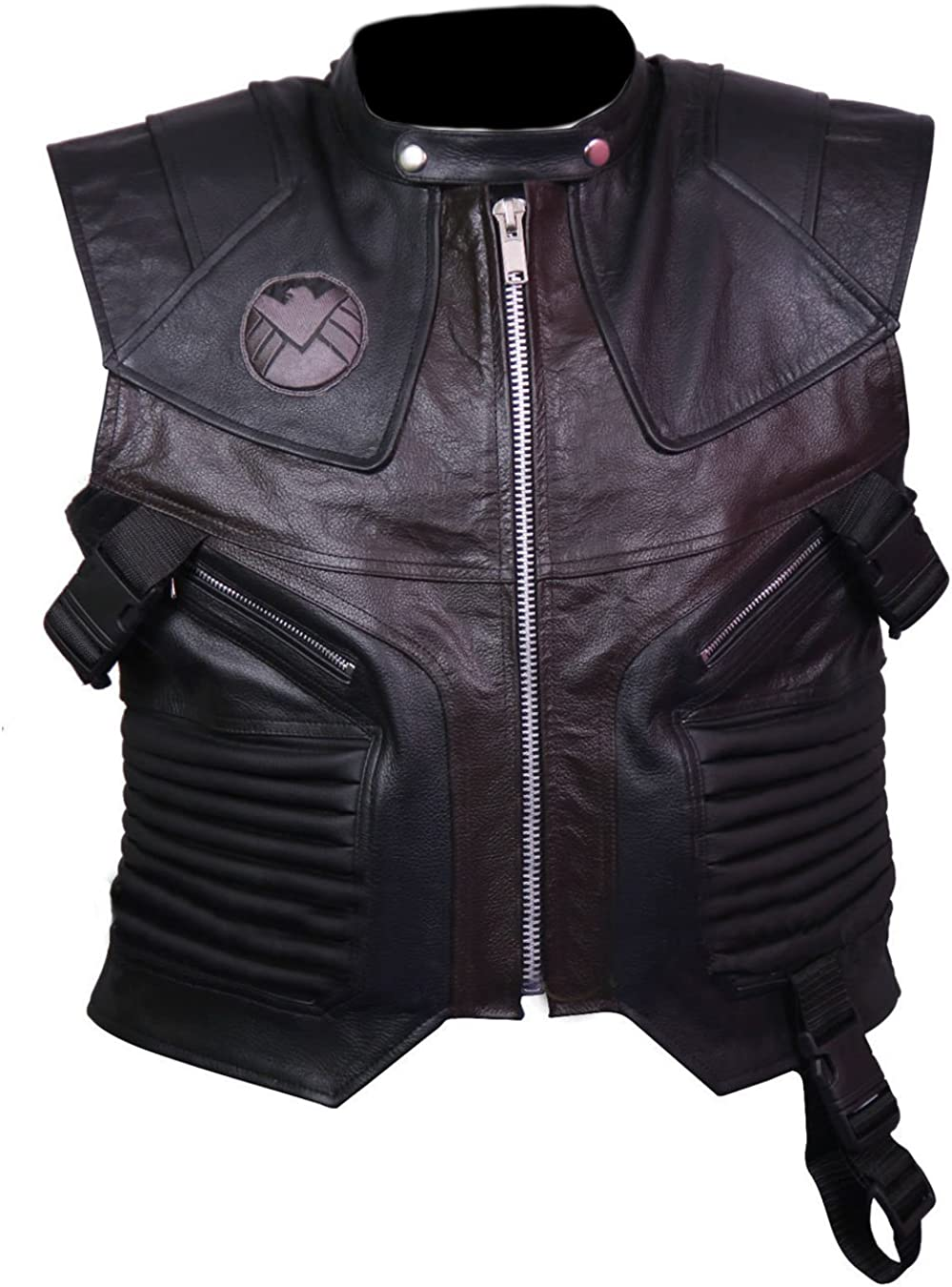 coolhides Men's Hawk Leather Vest