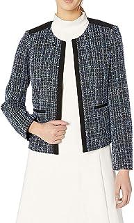 Women's Jewel Neck Knit Jacquard Fly Away Jacket