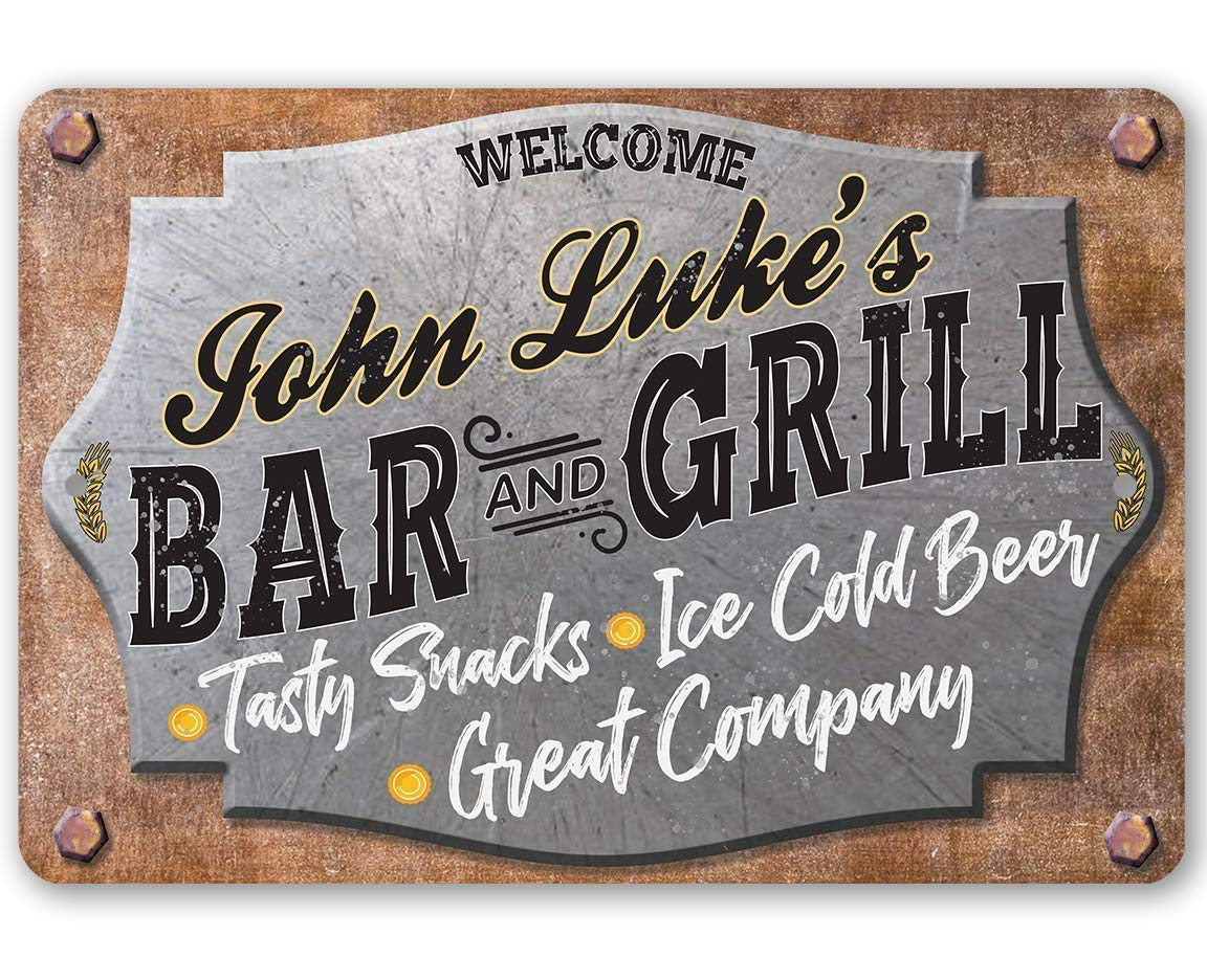 Personalized Bar and Grill Metal - Durable Sign Challenge the lowest price of Japan ☆ 5% OFF 8