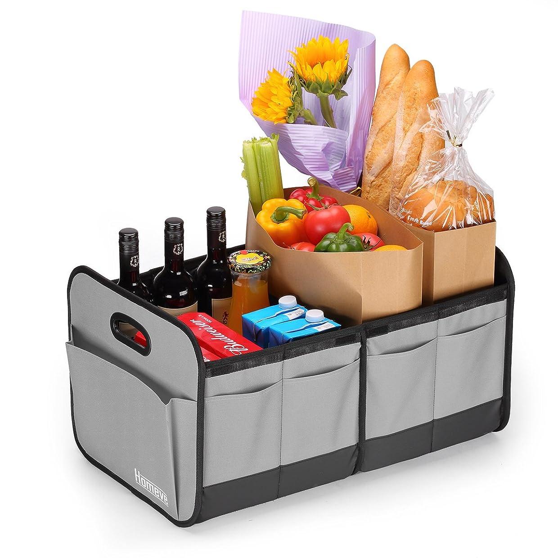Foldable Cargo Trunk Organizer, Reinforced Handles and Great for Car, SUV, Truck, Minivan, Grey uxcvqfkesz3