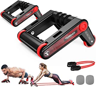 Ab Roller Wheel Push up Bars Multifunctional Workout Exercise Equipment with Knee Pad and Resistance Bands, Perfect Home Gym Equipment for Men Women Abdominal Exercise