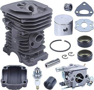 Adefol 38 mm Cilindro Pistón Kit Carburador para Husqvarna 136, 137, 141, 142, 530071345, 530071987 Motosierra con Ingesta...