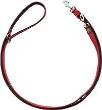 HUNTER NEOPREN Verstelbare hondenleiband, 2,0 x 200 cm, rood/zwart