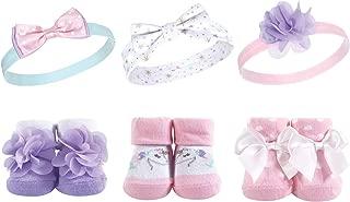 Hudson Baby Girl Socks and Headband Giftset