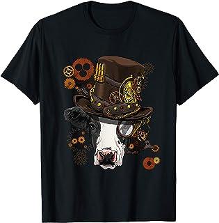 Steampunk Cow Shirt Steampunk Lovers Gift For Women & Men Maglietta