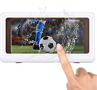 Shower Phone Holder Waterproof Anti-Fog Touch Screen Wall Mount Adhesive Phone Box Case for Shower Kitchen Bathroom Mirror...