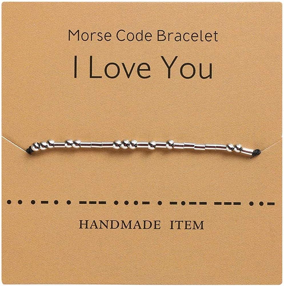 Morse Code Bracelet For Women - Sterling Silver Beads on Silk Co