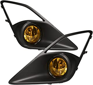 AJP Distributors For Scion FRS Toyota 86 Fog Lights Lamps Front Driving Bumper Replacement Upgrade 2012 2013 2014 2015 2016 12 13 14 15 16 (Black Bezel Yellow Lens)