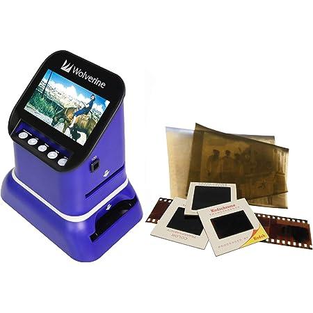 Wolverine フィルムスキャナー120フィルム ネガ デジタル化 35mmフィルム スライドフィルム 2000万画素 4.3インチ大型モニタ搭載 ネガスキャナー SD保存 F2DSATURN