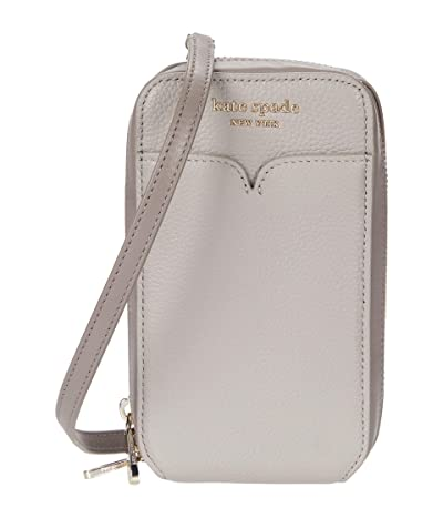 Kate Spade New York Zeezee North/South Phone Crossbody for iPhone(r) (True Taupe Multi) Cell Phone Case