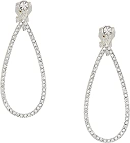 Everyday Crystal Teardrop w/ Stones Clip Earrings