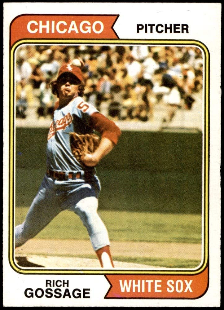1974 Topps # Selling 542 Goose Gossage Outstanding White Card Baseball Sox Chicago