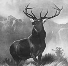 Posterazzi Poster Print Collection Stag Monarch of the Glen. After the Painting by Edwin Landseer, 1851, (24 x 36), Varies