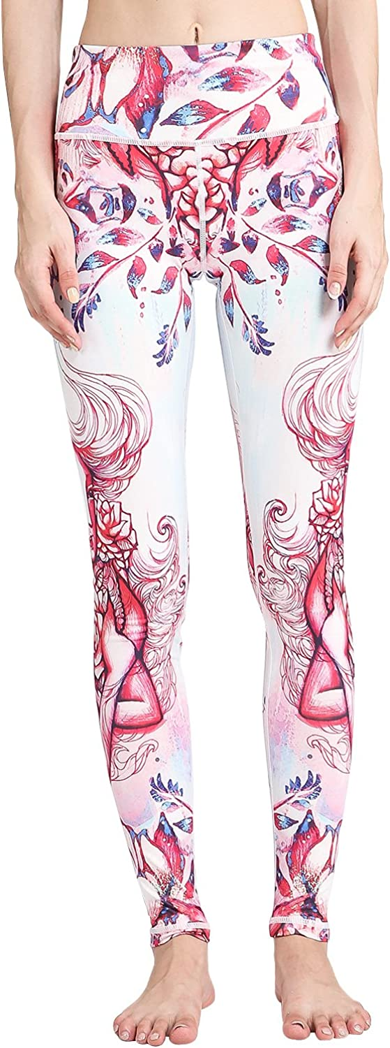 MTSCE Yoga Pants 12 Constellations Printed High Waisted Yoga Leggings for Fitness Riding Running Best Gift for Birthday