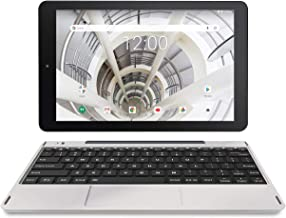 """RCA 10.1"""" HD IPS 1280 x 800 Touch Screen 32GB Quad-Core Tablet w/Extended Battery WiFi Keyboard Android 8.1 (10 inch, Silver Marble)"""