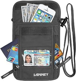 Neck Wallet Travel Pouch RFID Blocking, Traveling Passport Holder for Women Men