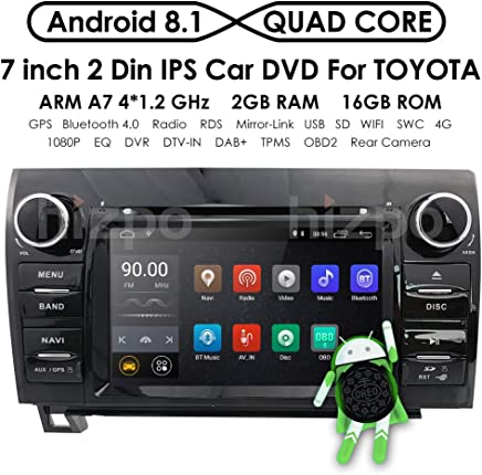 7 Inch Android 8.1 Touch Screen Car Stereo DVD Player in Dash GPS Navigation for 2007