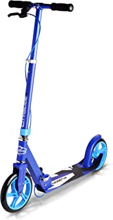 FUZION Cityglide B200 Adult Kick Scooter w/Hand Brake - 220lb Weight Limit - Folds Down - Adjustable Handle Bars - Smooth & Fast Ride (Renewed)