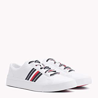 TOMMY HILFIGER Men's Signature Leather Trainers Signature Leather Trainers